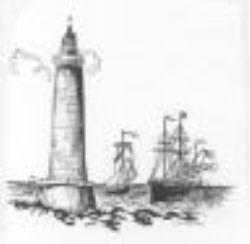 Lighthouse & ships lge