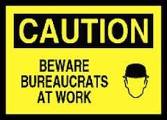 bureaucratscautionsign