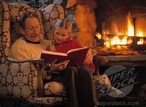 fatherreadingfireplace