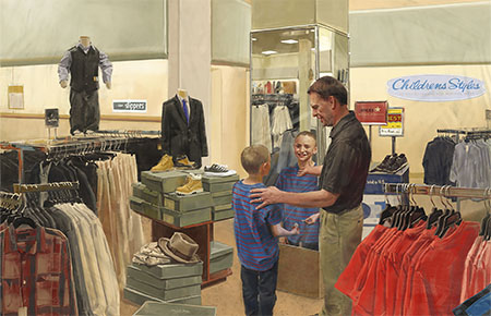 father-teaching-son-mirror