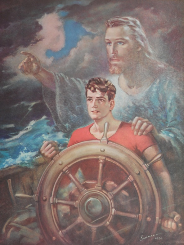 Sailor w-Jesus by Warner Sallman