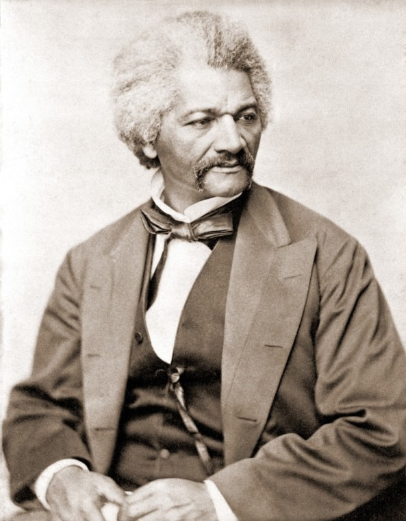 Frederick Douglass (1818-1895), former slave and abolitionist broke whites' stereotypes about African Americans in the decades prior to the U.S. Civil War.  His literary and oratorical excellence, and his dignified bearing, converted many to support the abolition of slavery in the United States.  1855 portrait. (Newscom TagID: evhistorypix007462.jpg) [Photo via Newscom]