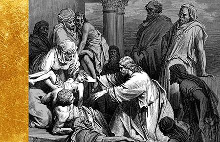 Jesus healing sick by Dore'