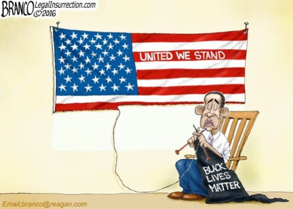 cartoon-obama-Fabric-anti-police-blm