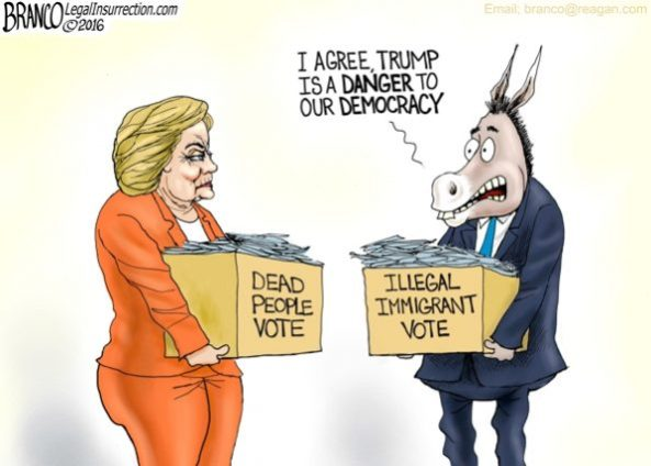 Image result for voter fraud cartoon