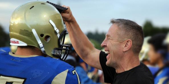 Joe Kennedy, former assistant football coach at Bremerton High School in Washington state.