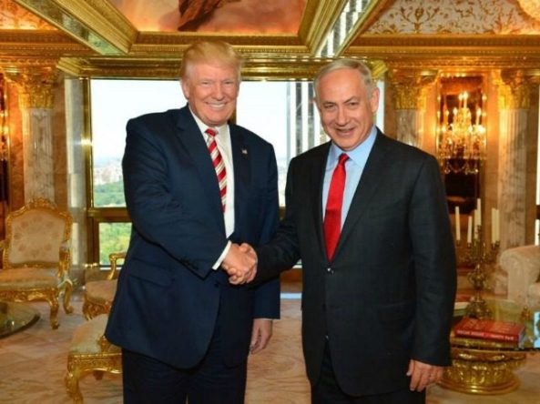 Donald Trump and Israel PM Netanyahu