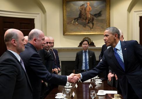 Obama hosts senior Muslim Brotherhood leader Anas Altikriti at the White House in 2014