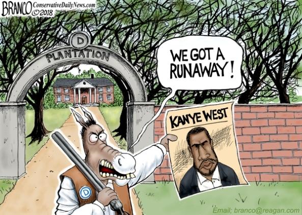 Kanye leaves dem plantation