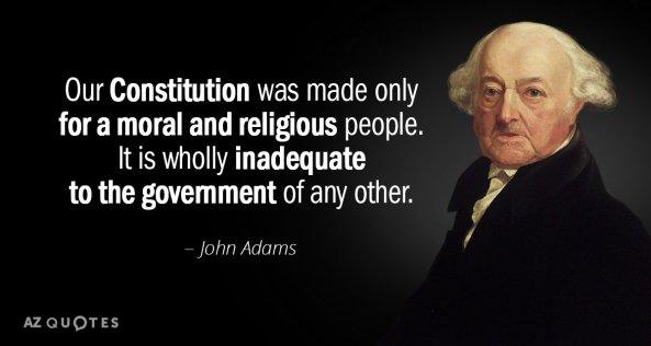John Adams-Constitution morality