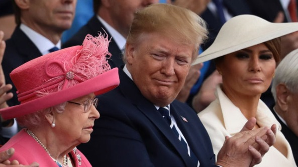 Pres. Trump, Melania, Queen Elizabeth, UK