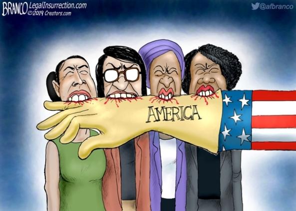 cartoon-marxist democrat squad