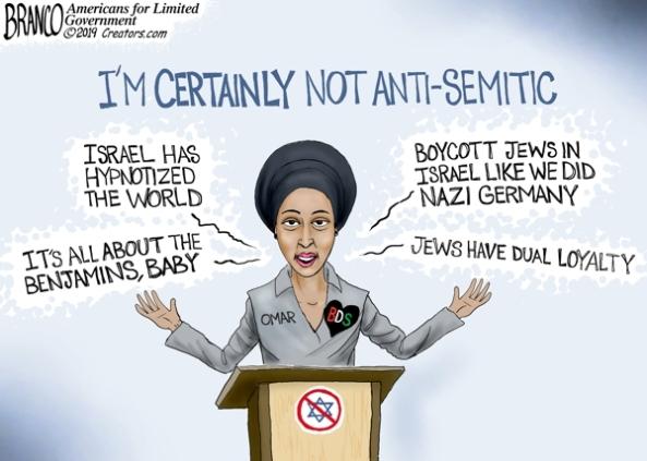 cartoon ilhan omar anti-semitic