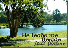 Bible quote-still waters