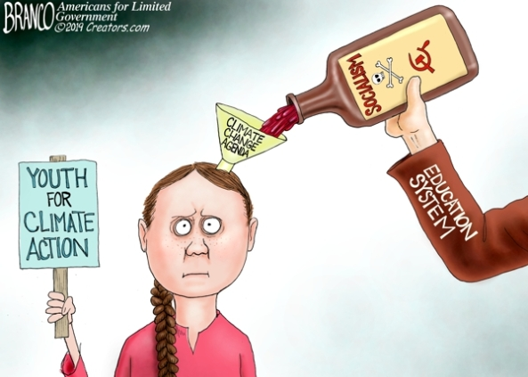 indoctrination of youth-climate change