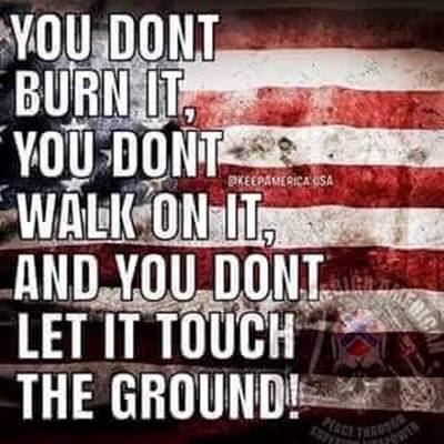 respect American flag