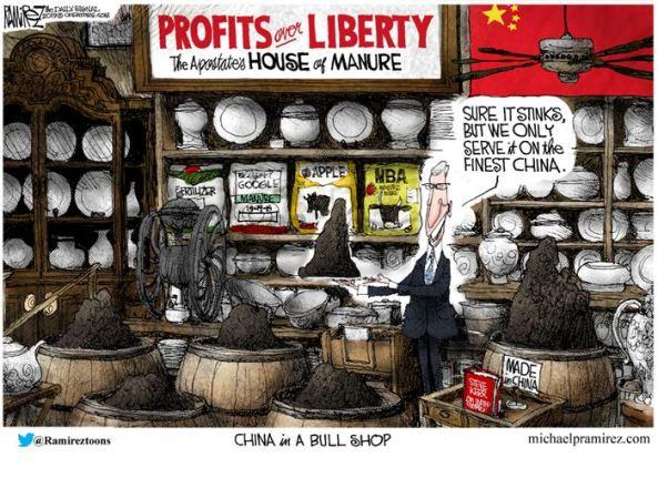 cartoon: China in a bull shop- ramirez
