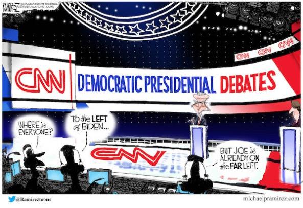 left wing radical dem debates