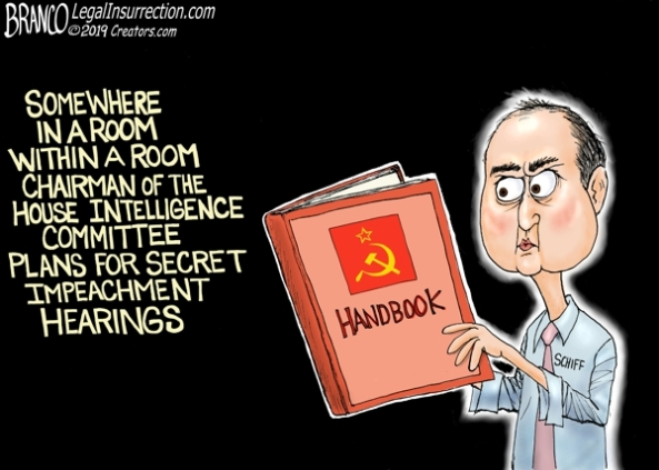 cartoon-soviet style secret hearings