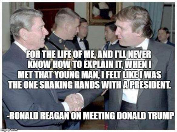 Trump with Reagan