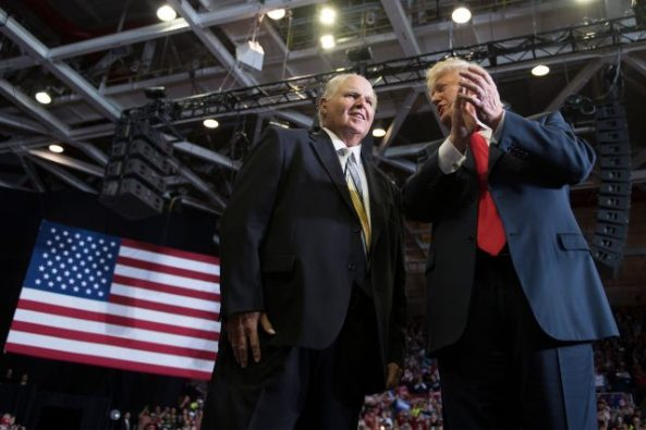Limbaugh and Trump at rally