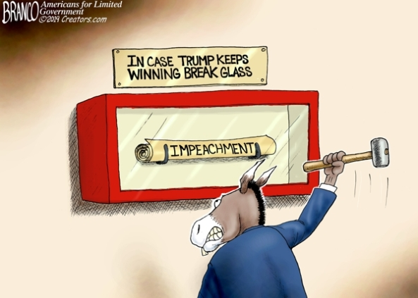 cartoon impeachment vs trump win