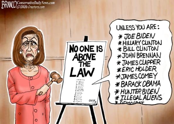 cartoon-pelosi not above the law