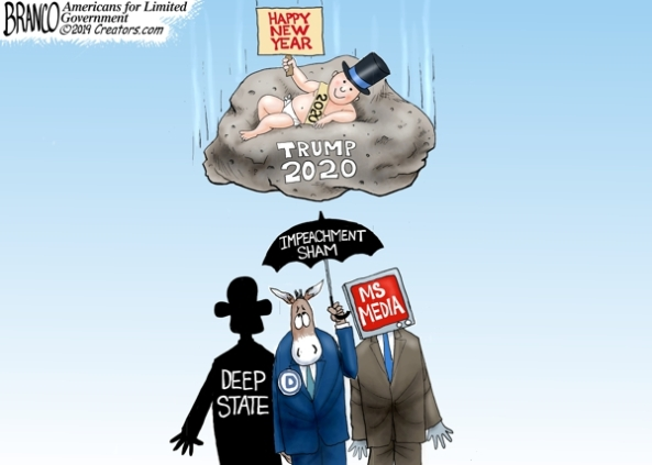 cartoon trump rock 2020