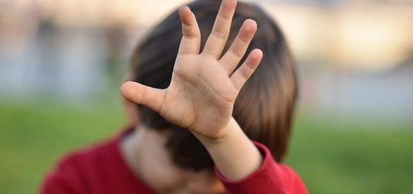 little boy hand reject