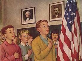 rockwell pledge flag